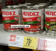 Herdez Salsa: $0.28 at Walmart and as low as $0.29 at Publix (with printable coupon!) - http://www.couponaholic.net/2015/04/herdez-salsa-0-28-at-walmart-and-as-low-as-0-29-at-publix-with-printable-coupon/