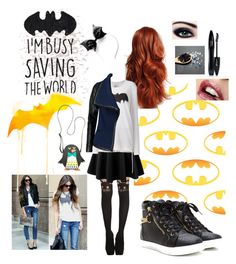 """Casual Batgirl."" by krgood7 ❤ liked on Polyvore featuring George, Ultimate, Michi, LE3NO, Lancôme, Zoe Karssen, Vince and Lily Bloom"