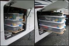 LOTS and LOTS and LOTS of GREAT ideas on streamlining and organizing those tiny RV kitchens! travel-rv-camping