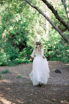 Fae gown by Elizabeth Cooper Design | Alissa Paige Photography | modest wedding dress | two piece | modest | sleeves | lace | tulle | wedding gown | romantic |