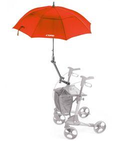 Topro Schirm mit Multifunktionsarm, rot, Rollator Zubehör für Troja, 2G, Olympos