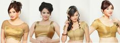 Designer Golden Blouse Go Well with all Sarees