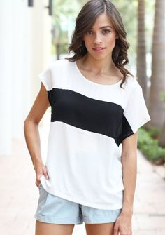 Solo Stripe Blouse Black White Striped Dress, Black White Stripes, Flare Top, Fit And Flare, What I Wore, What To Wear, Buy Dress, Cute Shirts, Get Dressed