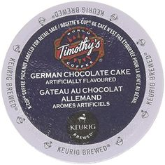 48 Count - Timothy's German Chocolate Cake Flavored Coffee K-Cup For Keurig Brewers *** Be sure to check out this awesome product.