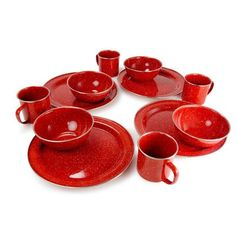 Loon Peak Aletha 12 Piece Dinnerware Set, Service for 4 Color: Red