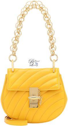 3b1011ac62b4f Brilliant Luxury♢Chloé Drew mini bijou shoulder bag in yellow Chloe Drew  Mini