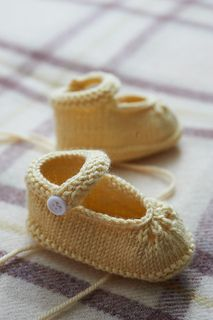 These precious booties are perfect for delicate little baby feet, and they have an old-fashioned simplicity that is sure to warm the heart.