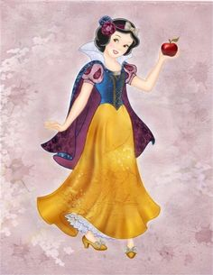 Snow White with purple cape