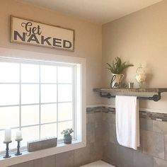 """We have three versions of this sign in our shop. This is for either our VERTICAL or HORIZONTAL """"Get naked sign. Please select which option you would like. This is a rustic framed sign painted in black distress on a white distressed bo Bathroom Signs, Modern Bathroom, Master Bathroom, Funny Bathroom, Bathroom Ideas, White Bathroom, Bathroom Closet, Glass Bathroom, Bathroom Inspiration"""