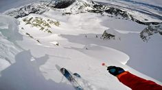 Jackson Hole Cliff drops and backcountry drone skiing with O_leeps