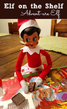 Elf on the Shelf ideas – Elf gets sweet tooth, eats Advent calendar chocolate