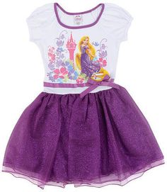 Disney Princesses Rapunzel Tutu Dress Purple Child Size Small (2-4)