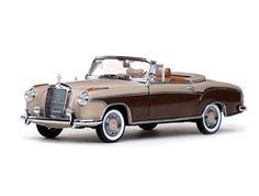 This Mercedes-Benz 220SE Cabriolet (1958) Diecast Model Car is Two Tone Brown and features working steering, wheels and also opening bonnet with engine, boot, doors. It is made by Sun Star and is 1:18 scale (approx. 24cm / 9.4in long). ...