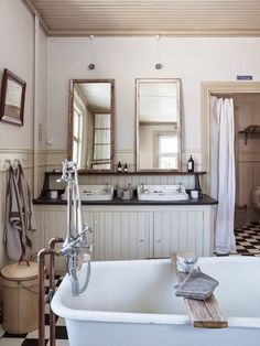 Modern #Bathroom #Remodel with a mixture of antique style http://remodelworks.com/