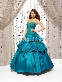 >> Click to Buy << Free Shipping Turquoise Taffeta 2014 Quinceanera Dresses Appliques Party Gowns for 15 Years Vestidos De Gala Sweetheart BQ135 #Affiliate