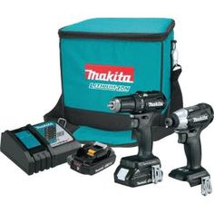 Makita 18-Volt LXT Lithium-Ion Sub-Compact Brushless Cordless 2-piece Combo Kit (Driver-Drill/ Impact Driver) 2.0Ah CX200RB at The Home Depot - Mobile