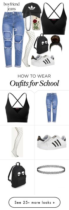 """""""BJ style"""" by person0003 on Polyvore featuring Doublju, adidas and Topshop"""