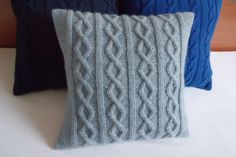 Hand knit pillow cover knitted cushion cover by Adorablewares, $36.00