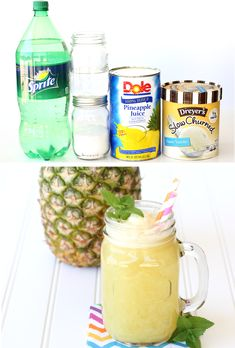 Just a few ingredients and you've got the hit of the party! Go grab the recipe and give this delicious tropical drink a try! Orange Recipes, Fruit Recipes, Smoothie Recipes, Drink Recipes, Yummy Recipes, Smoothies, Summer Drinks Kids, New Years Eve Drinks, Party Punch Recipes