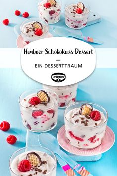 Himbeer-Schokokuss-Dessert Raspberry chocolate kiss dessert: A dessert dream with raspberries and ch Dairy Free Chocolate Cake, Paleo Chocolate, Chocolate Peanuts, Chocolate Peanut Butter, Chocolate Desserts, Raspberry Chocolate, Chocolate Kisses, Dessert Oreo, Paleo Dessert