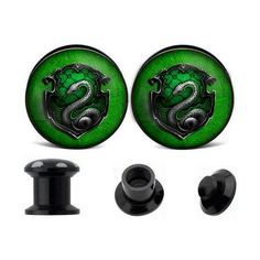 Harry Potter inspired ear plugs cool ear by zhbracelet on Etsy, $11.99... ❤ liked on Polyvore