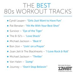 This will give your ears a little #throwback! Presenting: your '80s workout playlist! Xx