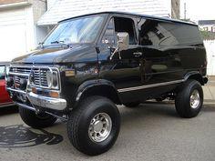 "Chevy Van 1 of 3 | Our friend's incredible jet-black ""monste… | Flickr"