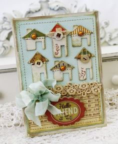 love the different houses on this card by melissa phillips. so cute
