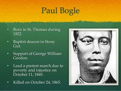William Gordon Famous Jamaicans, National Heroes