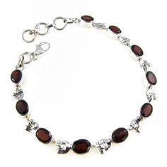 Silver Link Bracelet Garnet Gemstone Women Fashion Jewelry 8.25 Inches ShalinIndia,http://www.amazon.com/dp/B005KH18Y0/ref=cm_sw_r_pi_dp_rxfgsb0SM3DDBA5M