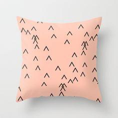 PEACH PATTERN Throw Pillow by RK // DESIGN