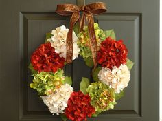 Hey, I found this really awesome Etsy listing at http://www.etsy.com/listing/163284940/christmas-wreath-holiday-wreath-front