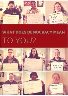 What does democracy mean to you? Send us a photo with your ideas!