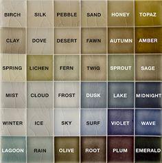 Pratt & Larson Tile Color Chart