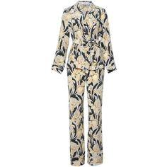 Equipment Odette Pj Set Buttermilk (5715 MAD) ❤ liked on Polyvore featuring intimates, sleepwear, pajamas, silk pajamas, silk pajama sets, silk pyjamas, silk sleepwear and equipment pajamas