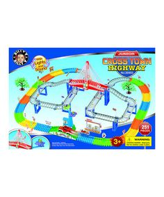 This Junior Cross-Town Highway Play Set is perfect! #zulilyfinds