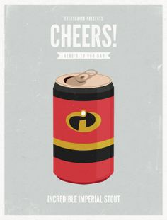 CARTOON DADS AS BEER CANS