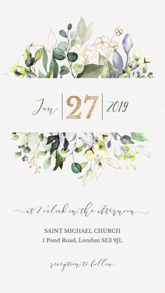 electronic save the date Unique Watercolor Greenery Wedding Invitation Video. This Elegant save the date is perfect to invite your guests to your rustic wedding with an email Save the Date. Pin This Click Through to See more digital save the date! Electronic Wedding Invitations, Wedding Invitation Video, Lace Invitations, Save The Date Invitations, Digital Invitations, Invites Wedding, Watercolor Invitations, Invitation Templates, Invitation Design