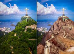 Photoshop Design by Robert R. #photoshop #montage #citywithouttrees #brazil #beforeandafter #designcrowd