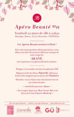 Back flyer Apéro Beauté no11 #Akane #Paris #AperosBeaute ARTICLE A VENIR :)