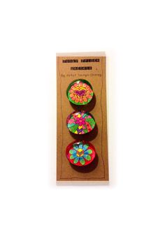 Funky Fridge Magnets Glass Colorful Fun by TaunyasButtonsnBows