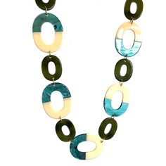LONG MULTI OVAL HOOPS Green Necklace, Happy Shopping, Buttons, Drop Earrings, Collection, Drop Earring, Plugs