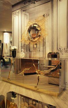 9 Sommertrends von Goldspiegel | Die filigrane Spiegel gedeiht in einer Form traditionellen portugiesischen Kultur und Kunst. Ein wahres Kunstwerk , das luxuriöse Spiegel spielt Tribut an Boca do Lobo Kernwerte Erbe und Handwerkskunst | wohn-designtrend.de/ | #goldspiegel #wohnzimmerdesign #luxumobel #einzigartigspiegel