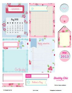 Free Printable Shabby Chic Journaling Elements