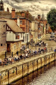 England Travel Inspiration - View from Ouse Bridge of Kings Staith in York, North Yorkshire, England Yorkshire England, Yorkshire Dales, North Yorkshire, York England, London England, York Uk, England Ireland, England And Scotland, Great Places