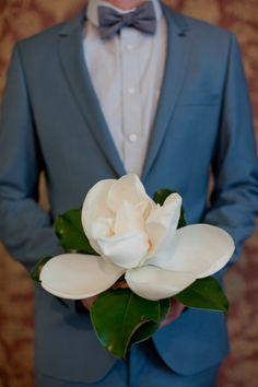 single magnolia flower bouquet