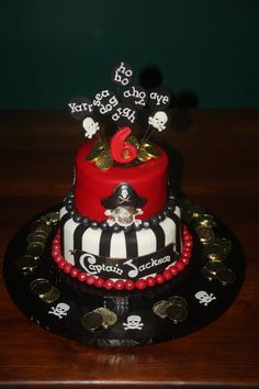 Captain Jackson 2 T Birthday cake Pirate