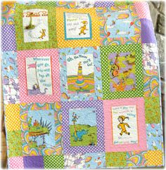 Dr Seuss Oh the Places You'll Go Baby Quilt
