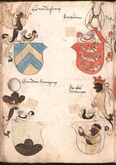 Wernigeroder (Schaffhausensches) Wappenbuch Süddeutschland, 4. Viertel 15. Jh. Cod.icon. 308 n  Folio 216v