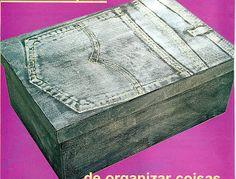 Artesanato e Cia : Carimbo em jeans (pintura em madeira)